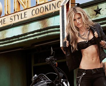 Marisa Miller Harley Davidson Poster
